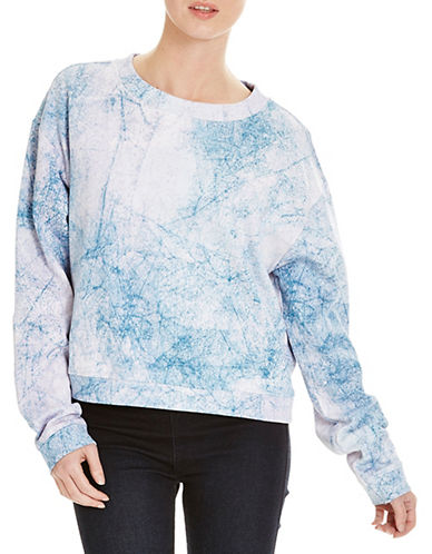 Bench Lush Crop Print Sweatshirt-WHITE-Small 88519068_WHITE_Small