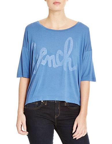 Bench Speechifying Logo Crop T-Shirt-BLUE-Large 88519090_BLUE_Large