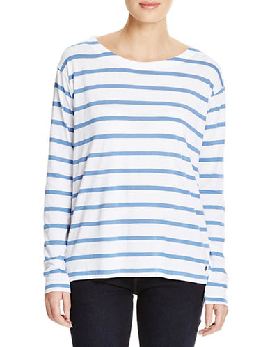 Bench Brio Long Sleeve Striped Top-BLUE-Medium 88519116_BLUE_Medium