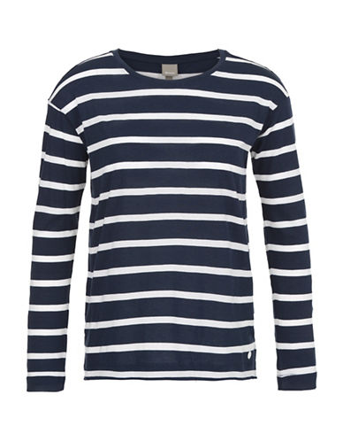 Bench Brio Long Sleeve Striped Top-NAVY/WHITE-X-Large 88519113_NAVY/WHITE_X-Large