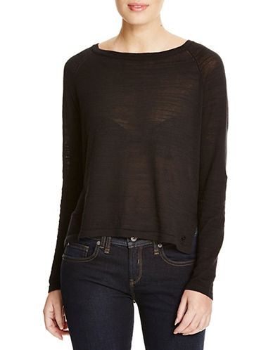 Bench Base Knit Blouse-BLACK-X-Small 88519621_BLACK_X-Small