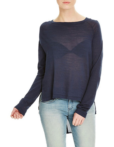 Bench Base Knit Blouse-BLUE-X-Small 88519631_BLUE_X-Small