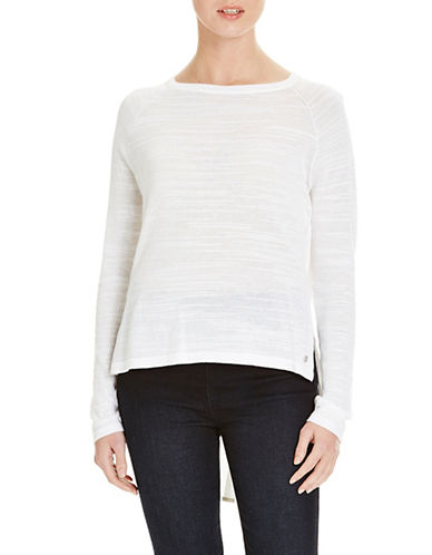 Bench Base Knit Blouse-WHITE-X-Small 88519626_WHITE_X-Small