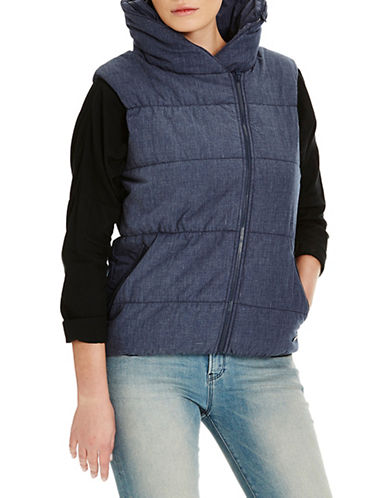 Bench Trap Zip-Up Vest-BLUE-Small