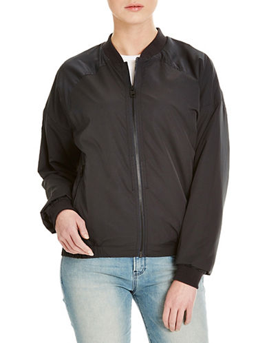 Bench Solution Zip-Up Bomber Jacket-BLACK-X-Large