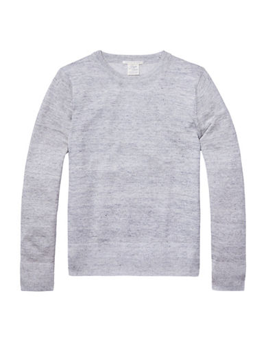Scotch And Soda Home Alone Knit Crew Neck Sweater-GREY-X-Large 88578730_GREY_X-Large