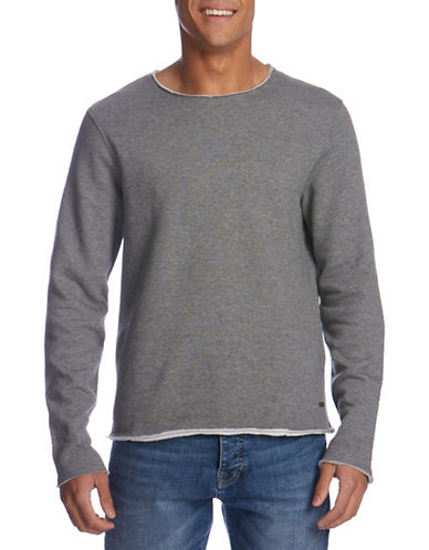 Bench Crew Neck Sweater-GREY-Medium 88665907_GREY_Medium