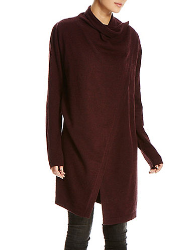 Bench Diction Long Cardigan-BURGUNDY-Large