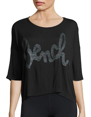 Bench Speechifying Logo Crop T-Shirt-BLACK-X-Large 88650702_BLACK_X-Large