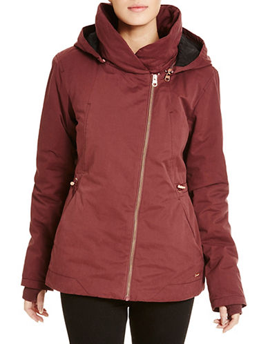 Bench To The Point Jacket-MAROON-Medium