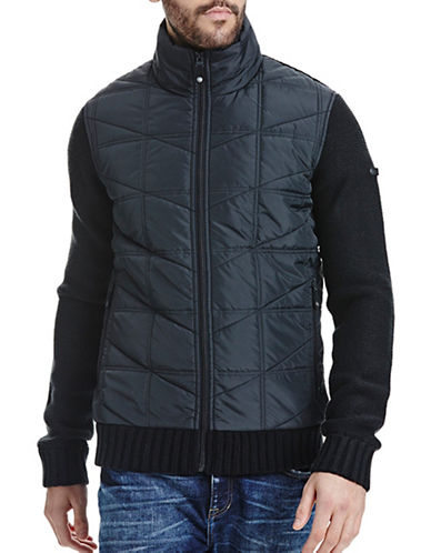 Bench Quilted Funnel Neck Jacket-BLACK-Large 88731638_BLACK_Large