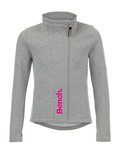 Bench Manicle C Zip Thru Sweatshirt-GREY-11-12 88459729_GREY_11-12