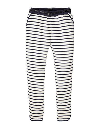 Maison Scotch Striped Belted Waist Pants-COMBO-X-Small