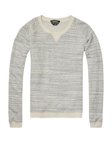 Maison Scotch Basic Pullover Sweatshirt-GREY-Small 88627929_GREY_Small