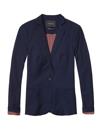 Maison Scotch Classic Fit Stretch Blazer-NIGHT-Large