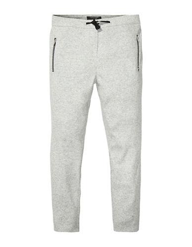 Maison Scotch Wool Blend Jogger Pants-GREY-Large 88737237_GREY_Large