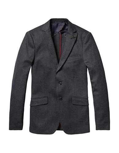 Scotch And Soda Classic Wool-Blend Jacket-GREY-XX-Large 88704934_GREY_XX-Large