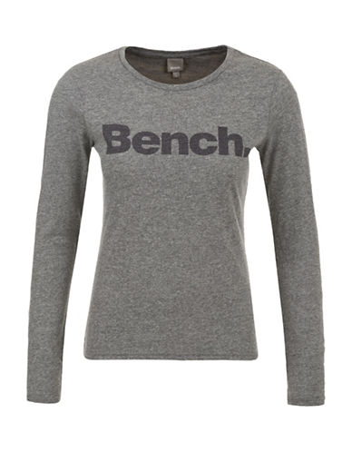 Bench Long Sleeve Cropped Tee-BLACK MARL-X-Small 88745861_BLACK MARL_X-Small