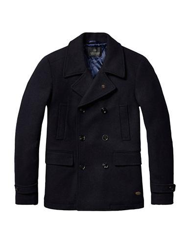 Scotch And Soda Classic Caban Jacket-BLUE-Medium 88727563_BLUE_Medium
