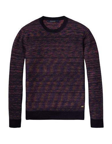 Scotch And Soda Multicolour Melange Pullover-BLACK-X-Large 88727605_BLACK_X-Large