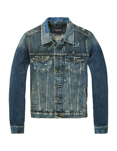 Scotch And Soda Amsterdam Trucker Jacket-BLUE-XX-Large 89029406_BLUE_XX-Large