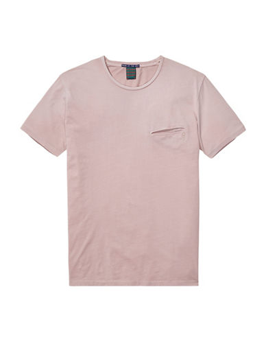 Scotch And Soda Summery Cotton Tee-PINK-Medium 89029353_PINK_Medium