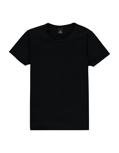 Scotch And Soda Classic Heathered Tee-BLACK-Medium 89029254_BLACK_Medium