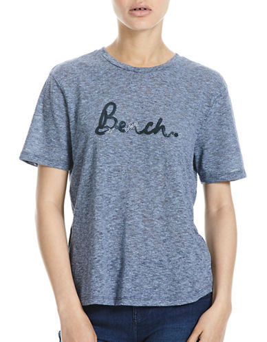 Bench Sequin Embroidered T-shirt-BLUE-X-Large 88827978_BLUE_X-Large