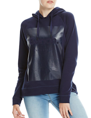 Bench Foil Print Hoodie-BLUE-X-Small 88827939_BLUE_X-Small