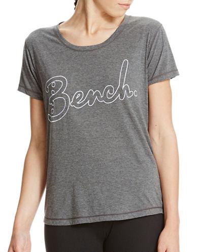 Bench Scoop Logo T-Shirt-BLACK BEAUTY MARL-Large 88888243_BLACK BEAUTY MARL_Large