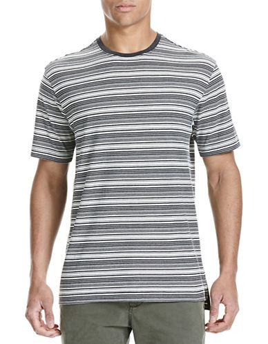 Bench Striped Cotton T-Shirt-BLACK-X-Large 88778601_BLACK_X-Large