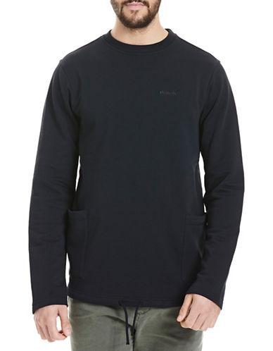 Bench Longline Crew Neck Pullover-BLACK-Small 88778580_BLACK_Small