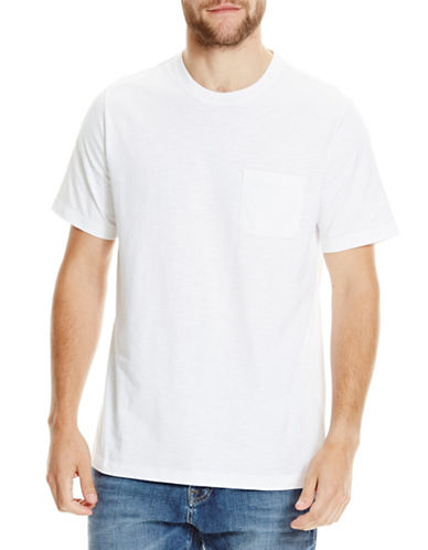 Bench Solid Cotton T-Shirt-WHITE-X-Large 88873033_WHITE_X-Large
