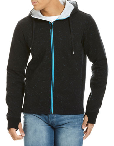 Bench Bonded Knit Zip Hoodie-BLACK-Large 88998740_BLACK_Large