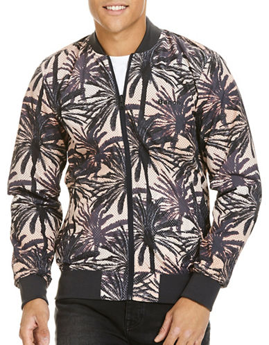 Bench Reversible Printed Bomber Jacket-BLACK-Small 88998793_BLACK_Small