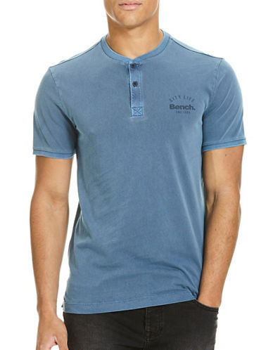 Bench Cotton Henley T-Shirt-BLUE-X-Large 89108682_BLUE_X-Large