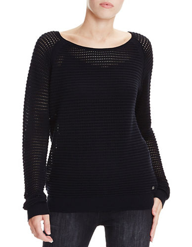 Bench Mesh Knitted Top-BLACK-Large 89040956_BLACK_Large