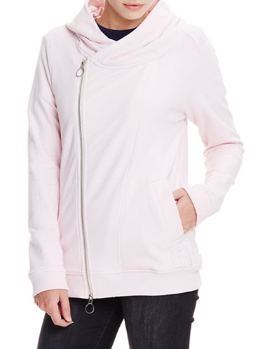 Bench Asymmetrical Zippered Hoodie-CHALK PINK-X-Small