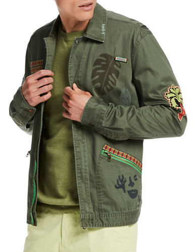 Scotch And Soda Worked-Out Shirt Jacket-GREEN-Medium 89159866_GREEN_Medium