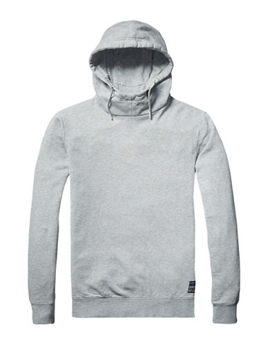 Scotch And Soda Classic Hooded Sweater-GREY-Large 89159895_GREY_Large