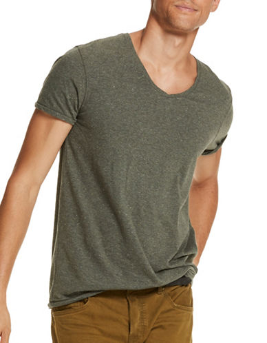 Scotch And Soda Heathered Jersey Tee-ARMY-Large