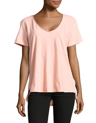 Maison Scotch Classic Cotton Tee with Pocket-BLUSH-Small