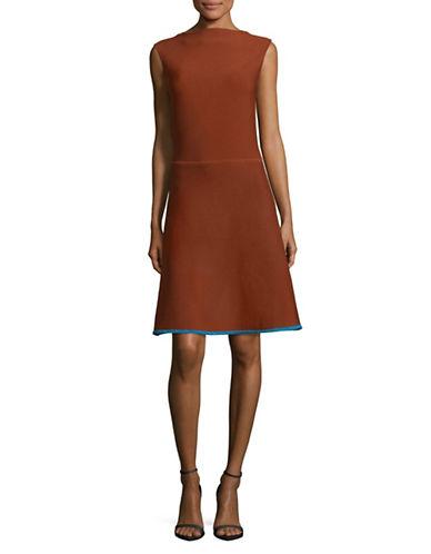 Maison Scotch Sleeveless Rib Knit Dress-COPPER-Small