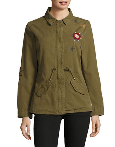 Maison Scotch Le Jardin DApus Embroidered Army Jacket-BROWN-Small