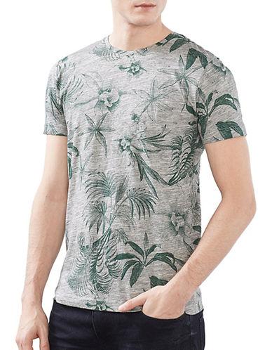 Esprit Slub Melange Short Sleeve Tee-GREEN-Medium 89067058_GREEN_Medium