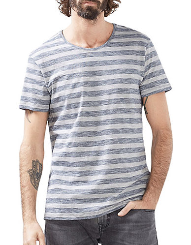 Esprit Striped Short-Sleeve Tee-BLUE-Small 89067037_BLUE_Small