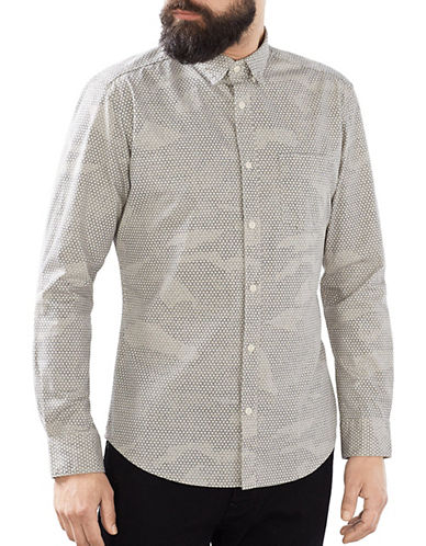 Esprit Woven Long Sleeve Shirt-WHITE-X-Large