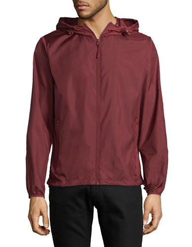 Esprit Hooded Jacket-RED-X-Large