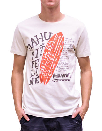 Esprit Surfer Graphic T-Shirt-WHITE-X-Large