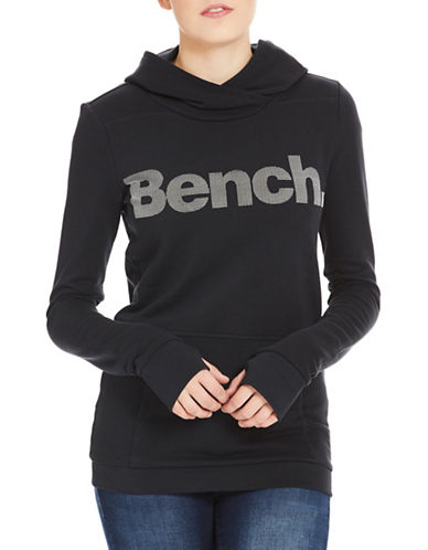 Bench Corp Print Hoodie-BLACK-Large